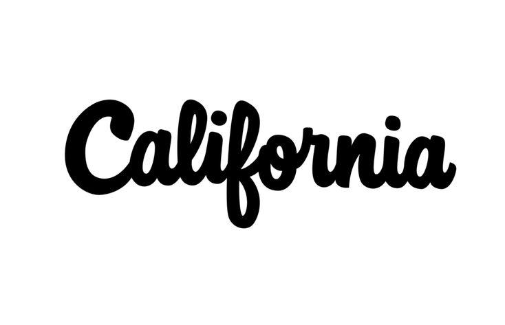 The word california in cursive