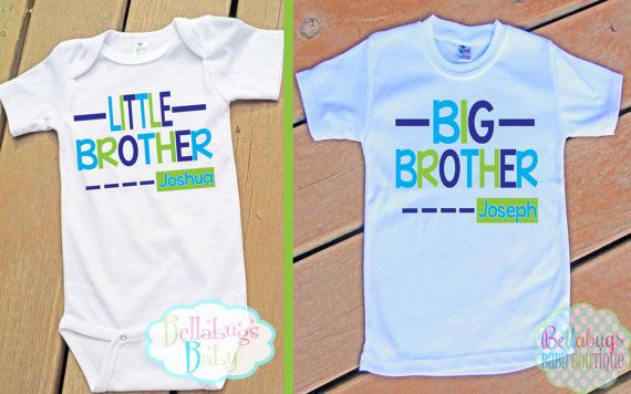 Big Brother Little Brother Outfit  Bodysuit or by BellabugsBaby