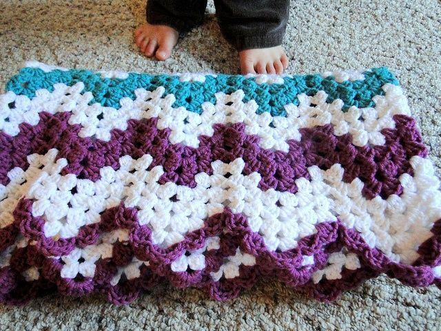 Free Crochet Ripple Afghan Patterns | Crochet-Afghans-Chevron, Ripple, Wave,  Sponsored By: Grandma's Crochet Shop