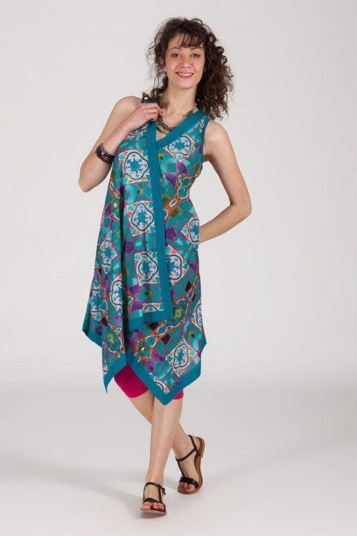 robe d'été sans manche asymétrique col