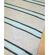 Pamut rongyszőnyeg szürke, kék 75 x 140 cm