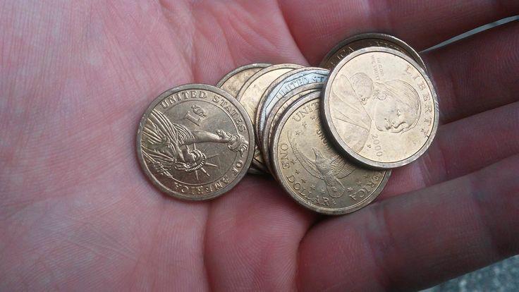 Car wash change machine gives dollar coins