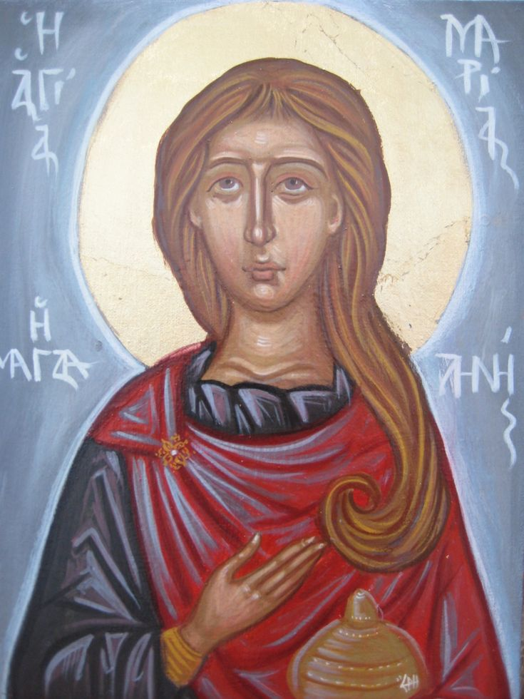 Mary Magdalen Contemporary religious painting - Christian icon wall art and decoration