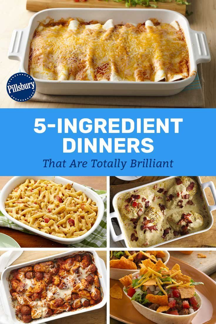 5 Ingredient Dinners That Are Totally Brilliant 5 Ingredient Dinners Recipes Crockpot Recipes Easy
