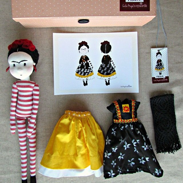 Frida Doll by Anacardia Atelier (doll) and Cecília Murgel (drawings):
