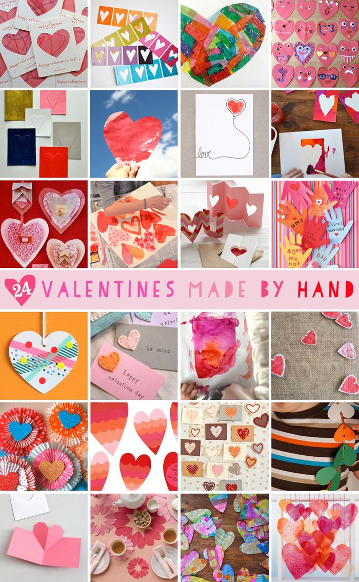 Valentines Made by Hand: 24 Ideas