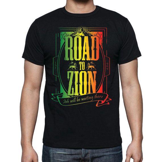 Reggae T-Shirt Jah Rasta Lion Of Judah Mount Zion by 969Tshirts