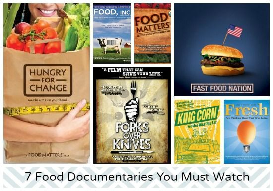 7 Food Documentaries to Watch: Hungry for Change, Food Inc (check!), Food Matters, Fresh, King Corn and Forks Over Knives (check!)