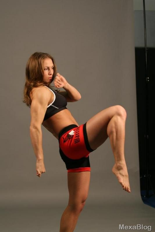 sexy women doing martial arts