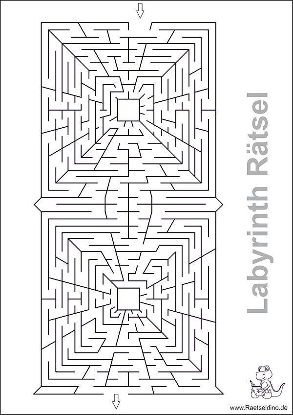 labyrinth bilderrätsel zum drucken  rätsel zum ausdrucken