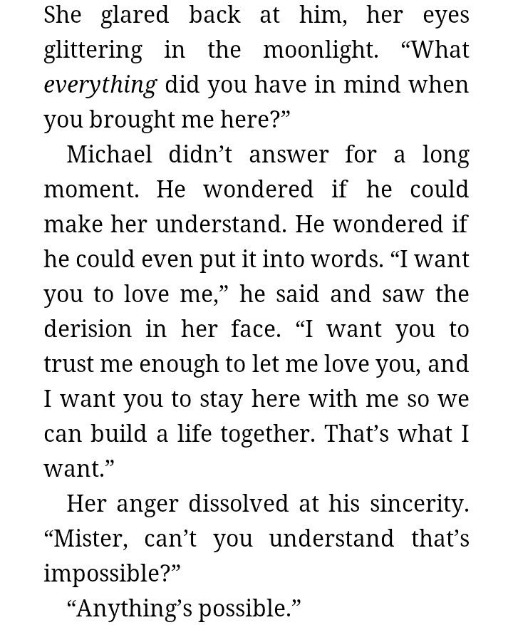 Redeeming Love quote. He knew she was the one. So he didn't doubt that what she saw as impossible was more than possible.