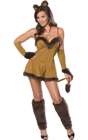Adult Secret Wishes Cowardly Lioness Costume
