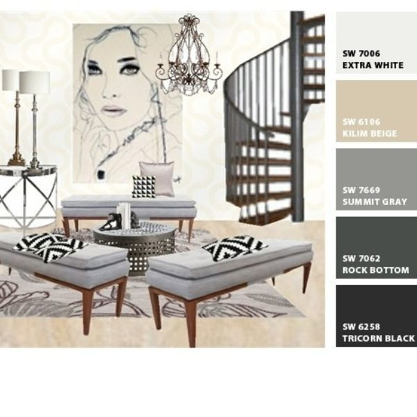 """""""Blush"""" by Blondies Loft & Co featuring Sherwin Williams wall #paint colors"""