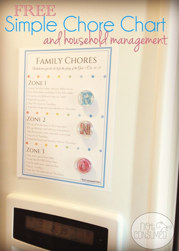Stop pulling out your hair over household chores! This FREE Simple Chore Chart will simplify your home management. Stress not included!