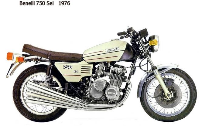 Vintage Benelli Motorcycle 10