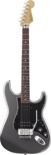 Fender Blacktop(TM) Strat® HH Floyd Rose® Electric Guitar, Titanium Silver, Rosewood Fretboard by Fender. $499.99