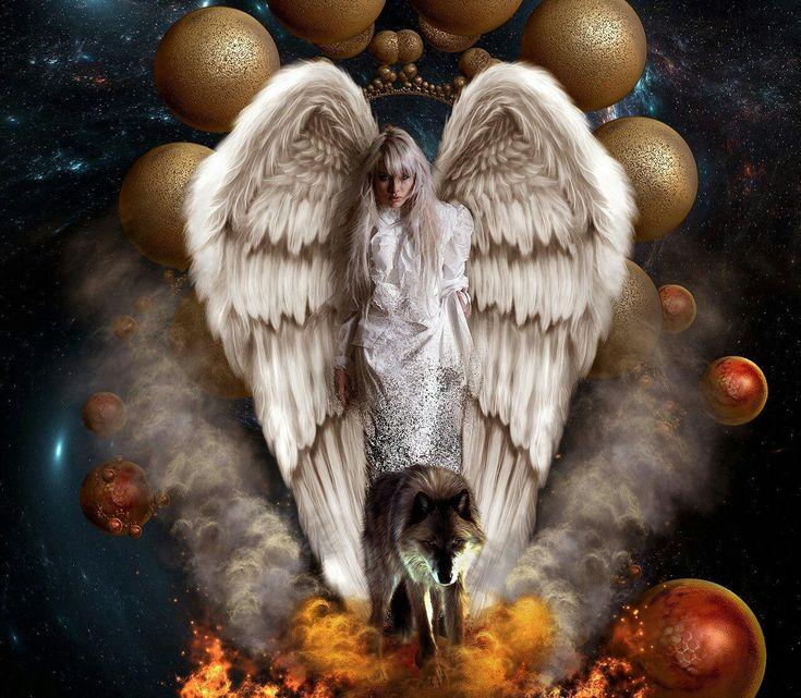 фото ангелы с волками красивые строится том