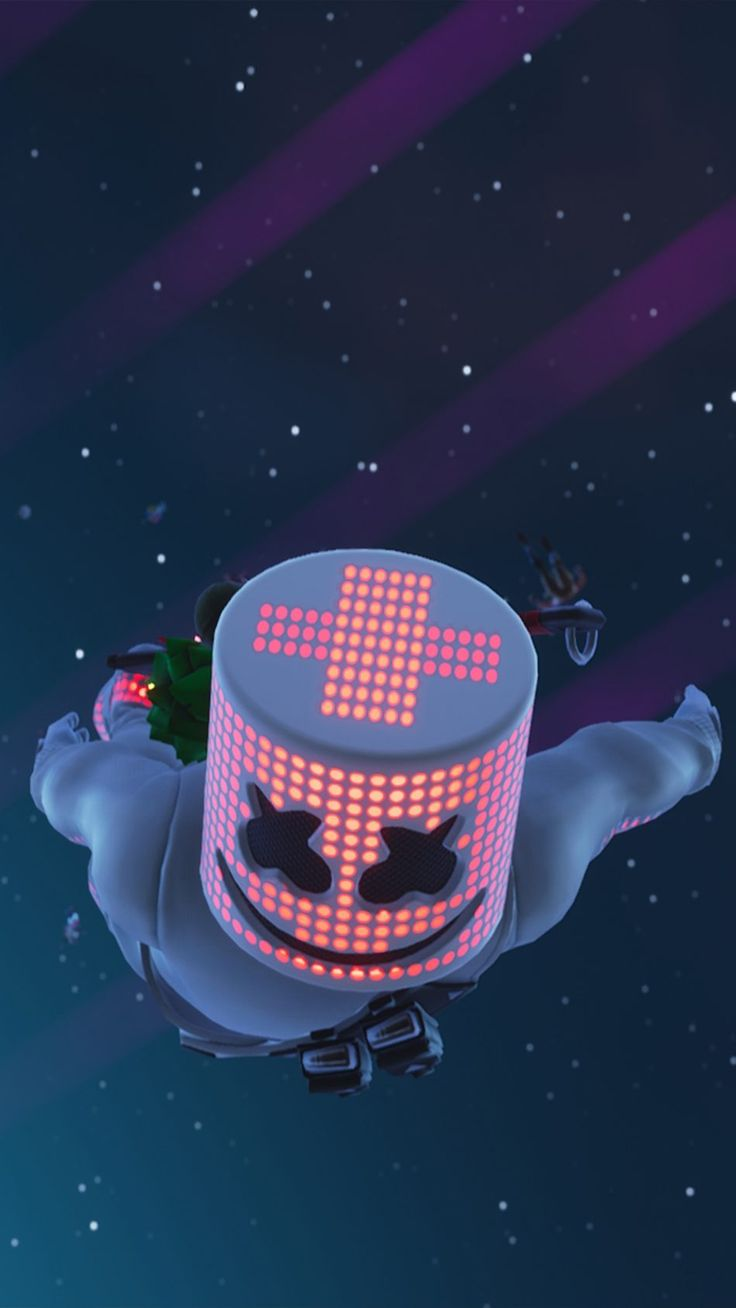 Marshmello In Air Fortnite Game wallpaper iphone, Mobile