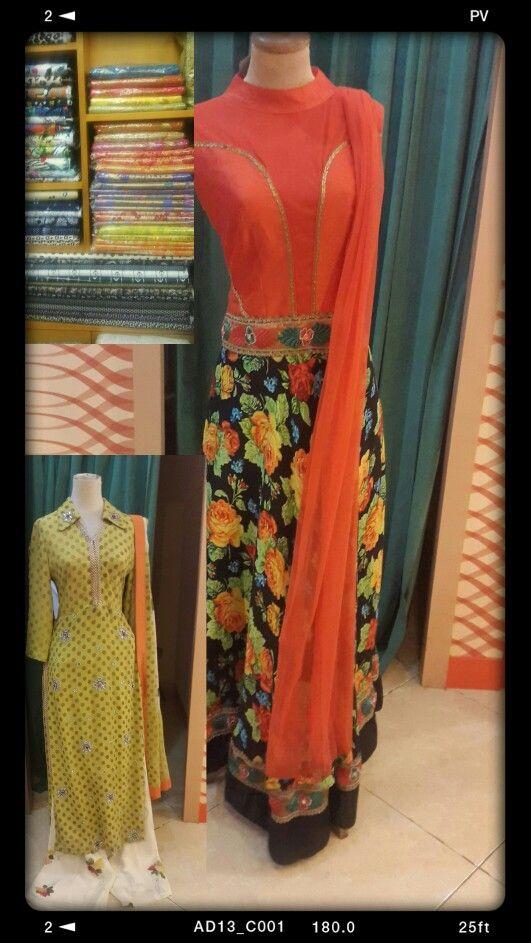 #best-fitting#floral#polka-dot#orange#lemon-green#palazo#anarkali#fabric#
