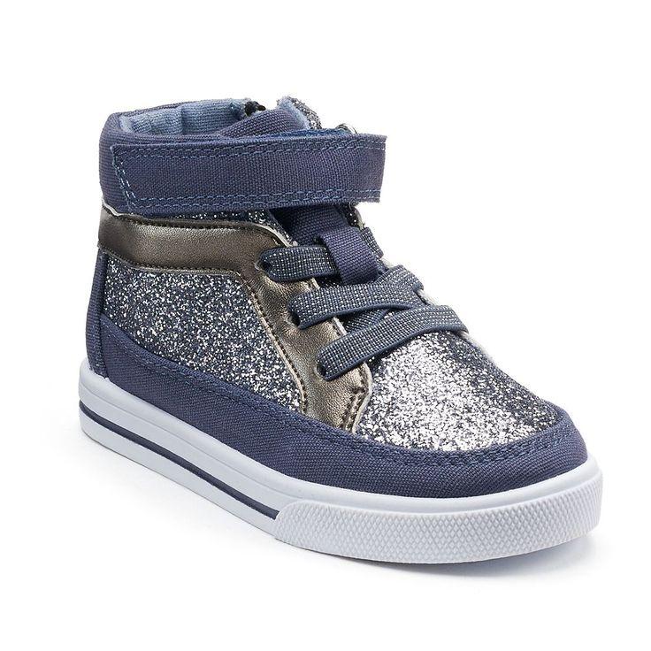 OshKosh B'gosh® Ginger 2 Toddler Girls' High Top Sneakers, Size: 10 T, Blue (Navy)