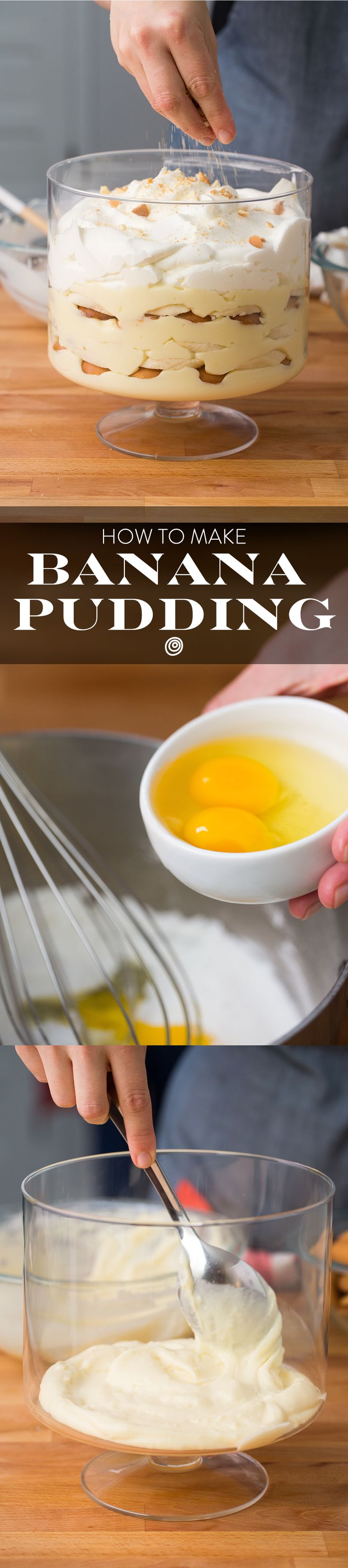 We make this Classic, From Scratch, Southern Banana Pudding EASY with this step by step recipe. It's very pantry friendly with a custard calling for milk, eggs, and other pantry staples, so it's one of those awesome recipes to have up your sleeve as desserts for last-minute guests.