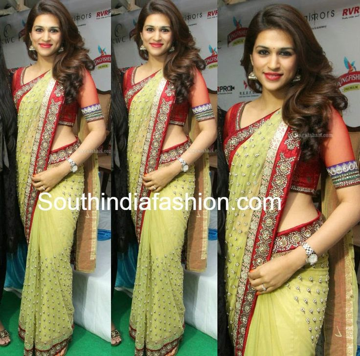Shraddha Das in Beautiful Saree ~ Celebrity Sarees, Designer Sarees, Bridal Sarees, Latest Blouse Designs 2014