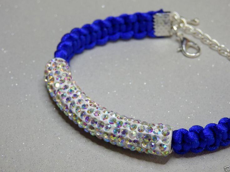 Handmade Macrame Shamballa Bracelet, Shamballa Tube, Adjustable