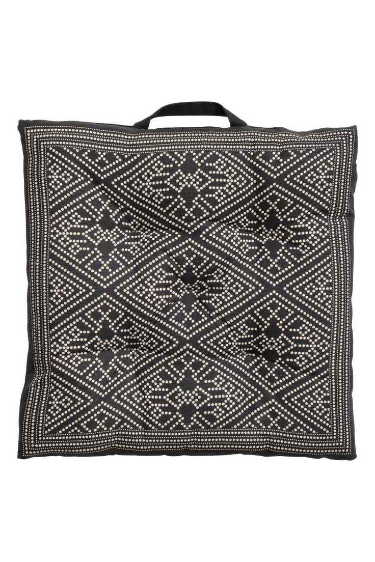 Galette de chaise en coton - Gris anthracite/écru - Home All | H&M FR