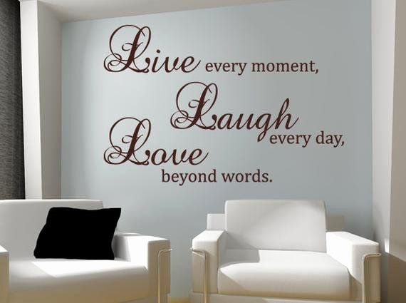 Live Laugh Love Living Room Idea Fresh Live Laugh Love Wall Decal Vinyl Sticker Quote Art By Living Room And Dining Room Decor Love Wall Vinyl Wall Decals