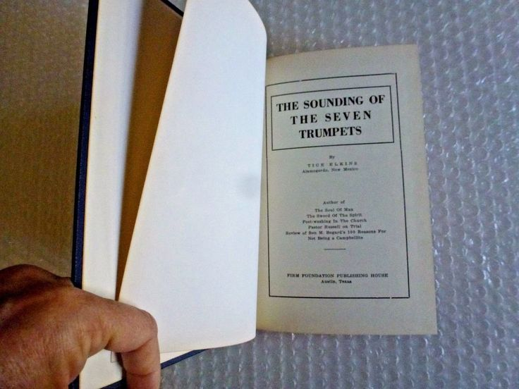 tHE SOUNDING OF THE SEVEN TRUMPETS TICE ELKINS 1942 VINTAGE BOOK FIRM FOUNDATION  #ebay #soundingof7trumpets #1942 #religion #1940s