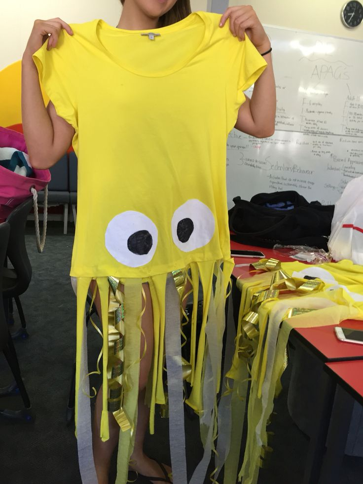 Easy to make squid costume #water #costume #carnival #easy #yellow #squid