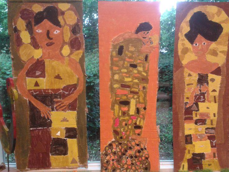 Gustav Klimt art school groep 7 kunst