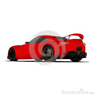 Illustration car with custom rim