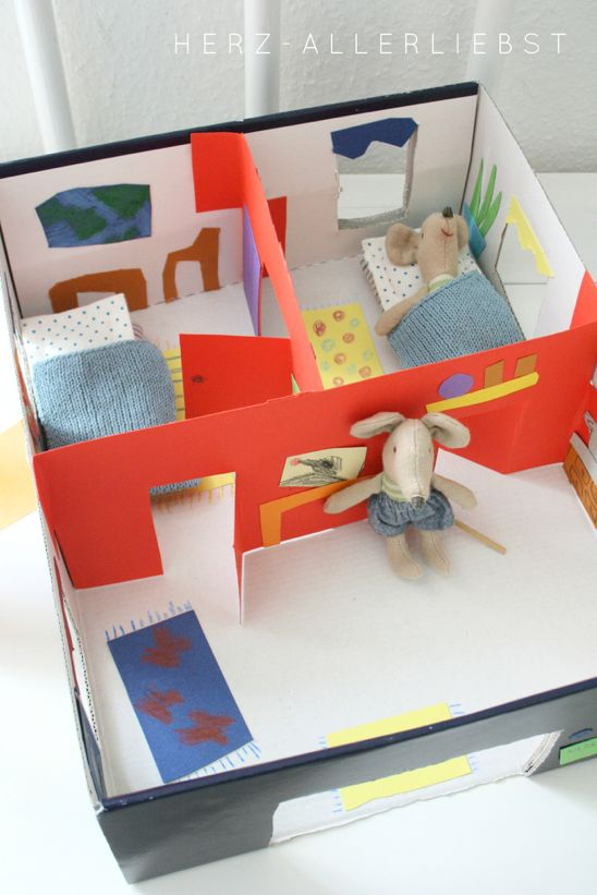 mommo design: RECYCLE AND PLAY - Shoebox mouse house