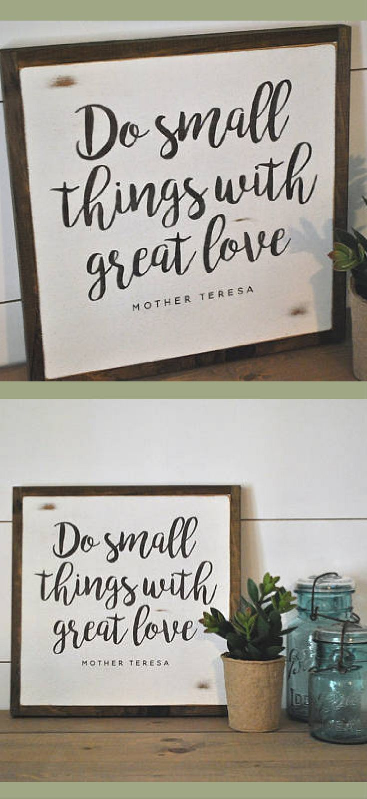 Mother Teresa Quote Art Do Small Things With Great Love Sign Farmhouse Wall Art Farmhouse Decor Rus With Images Shabby Chic Wall Art Farmhouse Wall Art Chic Wall Art