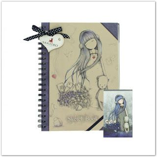 Pinkbagoly: Santoro Gorjuss Dear Alice vázlatfüzet, rajzfüzet