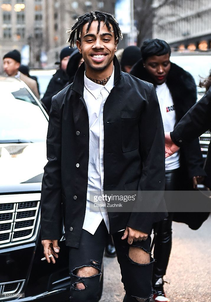 Rapper Vic Mensa is seen outside the Alexander Wang show during New York Fashion Week: Women's Fall/Winter 2016 on February 13, 2016 in New York City.
