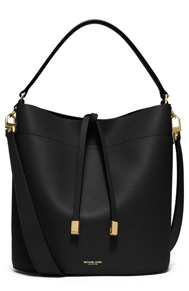 Free shipping and returns on Michael Kors 'Medium Miranda' Leather Bucket Bag at…