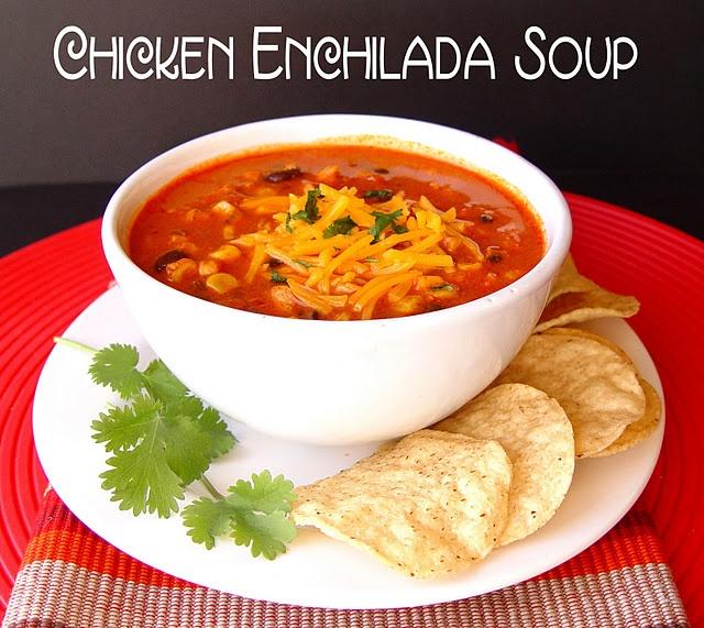 Yum!Tasty Recipe, Chicken Enchiladas Soup, Food, Crock Pot Chicken, Chicken Enchilada Soup, Crock Pots Chicken, Yummy, Crockpot Chicken, Chicken Soup