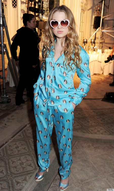 Just 13 years old, Anais Gallagher (daughter of Oasis frontman, Noel) papped at Moschino Cheap & Chic