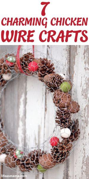 7 Charming Chicken Wire Crafts