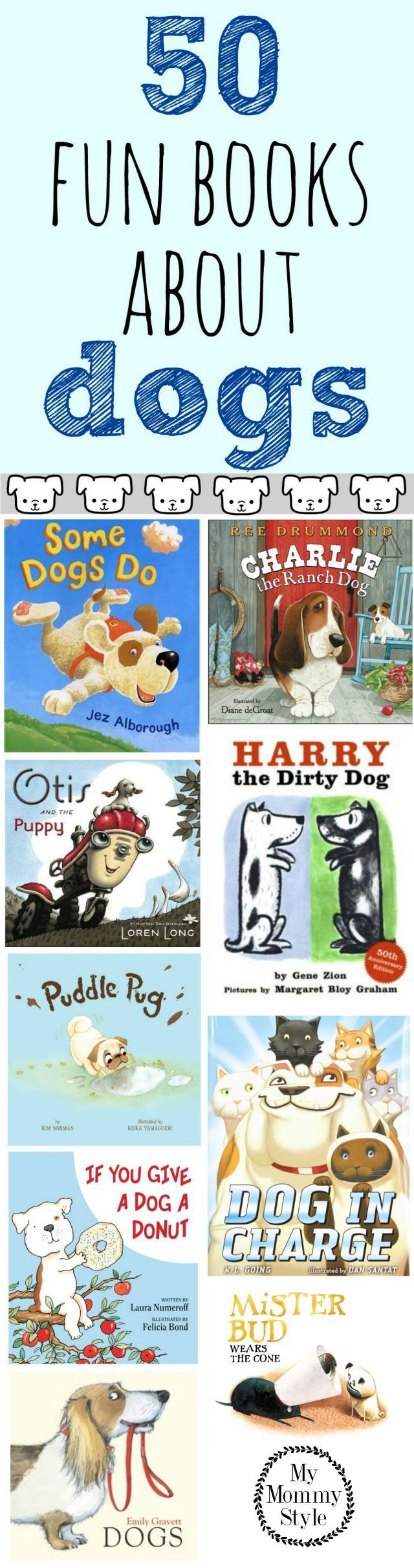 50 fun books about dogs