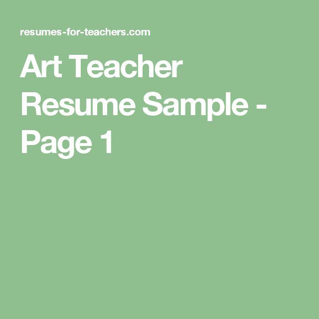 Sample Resume For Teachers Job 7 Best Resume Images On Pinterest  Teacher Stuff Application .