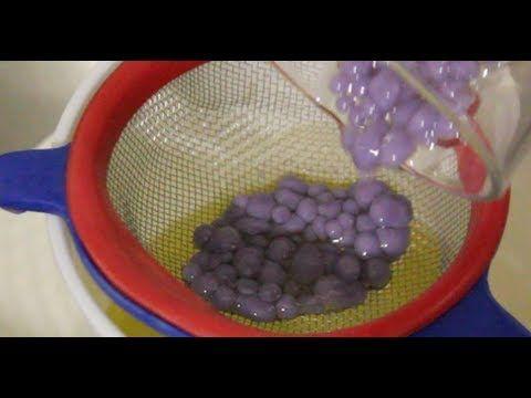 Cómo hacer caviar de gelatina de violeta - YouTube