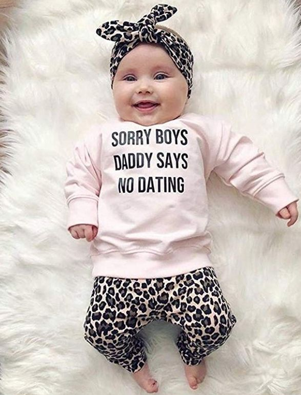 100 Cotton Sweatshirt 100 Cotton Pants And Headband 100 Polyester Soft And Comfort 2020 Fashionable Baby Clothes Daddys Girl Baby Clothes Baby Boutique Clothing