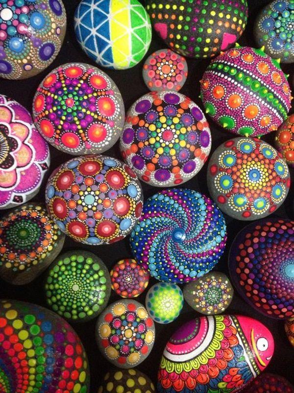 40 diy mandala stone patterns for random awesomeness
