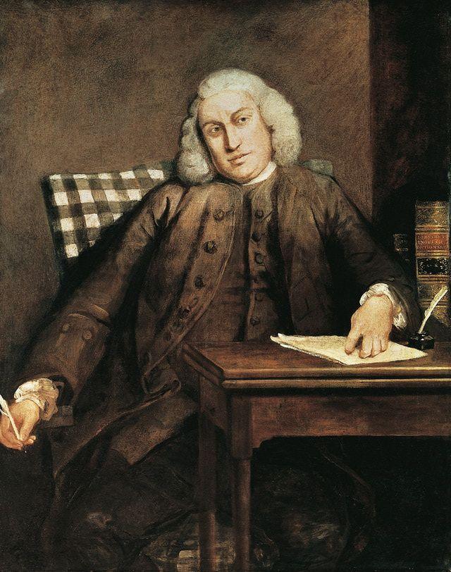 Samuel Johnson - 1709 in Lichfield geboren. Er war ein englischer Gelehrter, Lexikograf, Schriftsteller, Dichter und Kritiker.