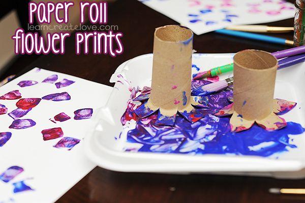 Paper Roll Flower Prints
