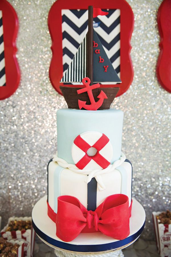 {Amazing} Ahoy! Its a Boy! Nautical Baby Shower Desserts and Styling by Dessert Divas Tx and LoveBirds Sweets