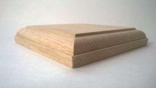 Best Solid Oak Newel Post Caps Fence Garden Stairs 100Mm X 100Mm Square 1 Free Oak Newel Post 400 x 300